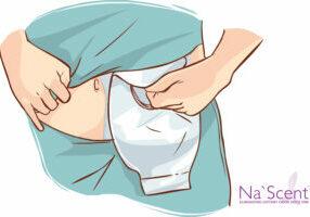 white background vector illustration of a ostomy bag